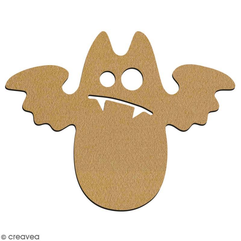 Chauve-souris cartoon en bois à décorer - 7 cm - Collection Halloween - Photo n°2