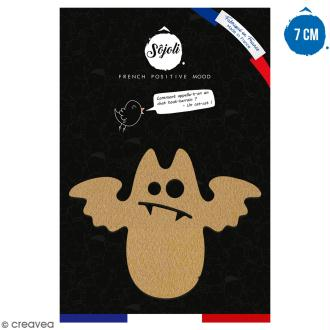 Chauve-souris cartoon en bois à décorer - 7 cm - Collection Halloween