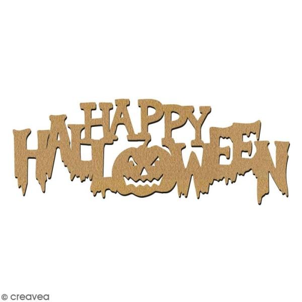 Happy Halloween en bois à décorer - 7 cm - Collection Halloween - Photo n°2