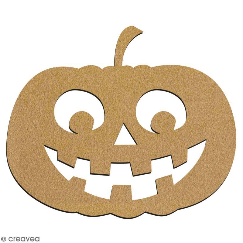 Citrouille Kawaii en bois à décorer - 7 cm - Collection Halloween - Photo n°2