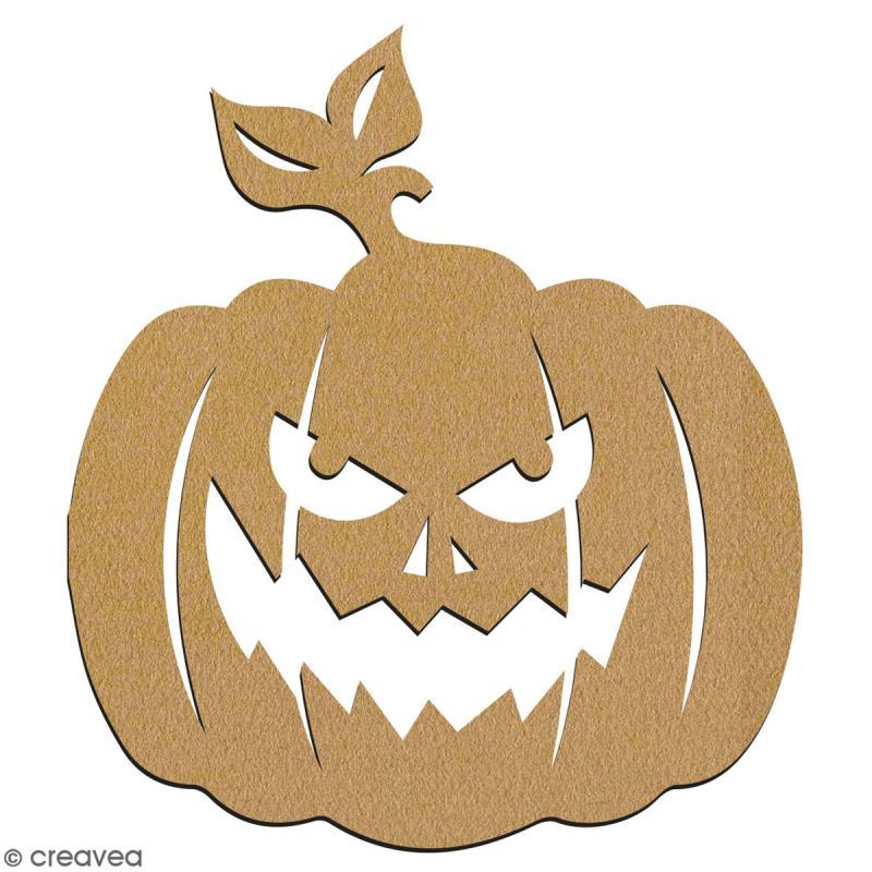 Citrouille en bois à décorer - 7 cm - Collection Halloween - Photo n°2