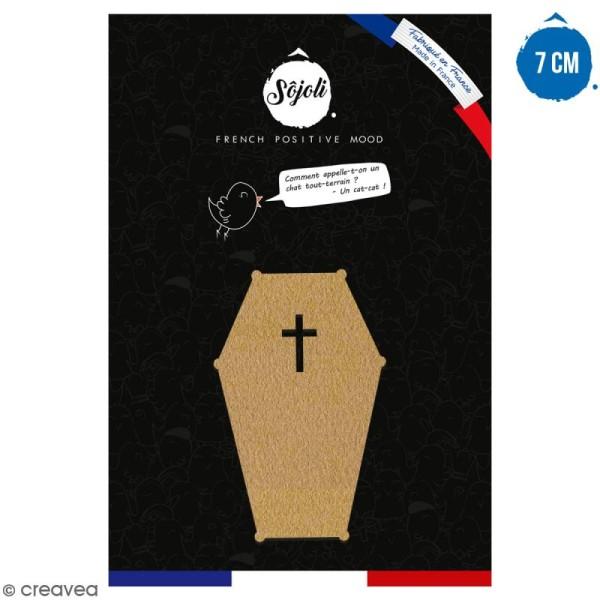 Cercueil en bois à décorer - 7 cm - Collection Halloween - Photo n°1