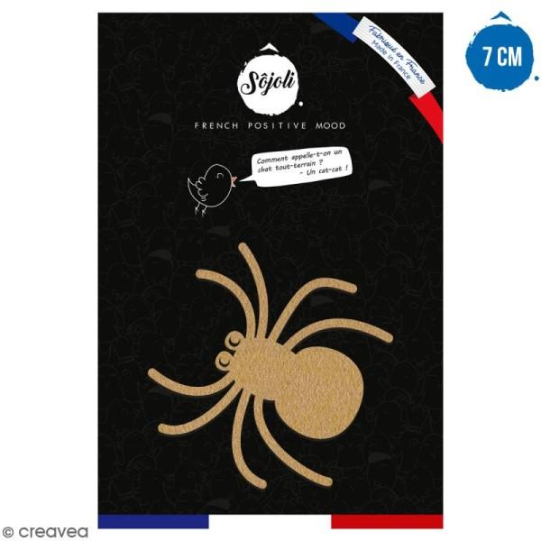 Araignée en bois à décorer - 7 cm - Collection Halloween - Photo n°1
