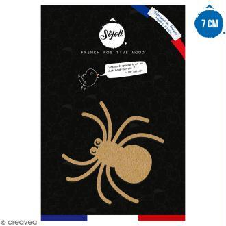 Araignée en bois à décorer - 7 cm - Collection Halloween