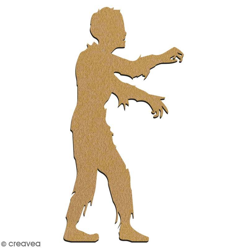 Zombie réaliste en bois à décorer - 7 cm - Collection Halloween - Photo n°2