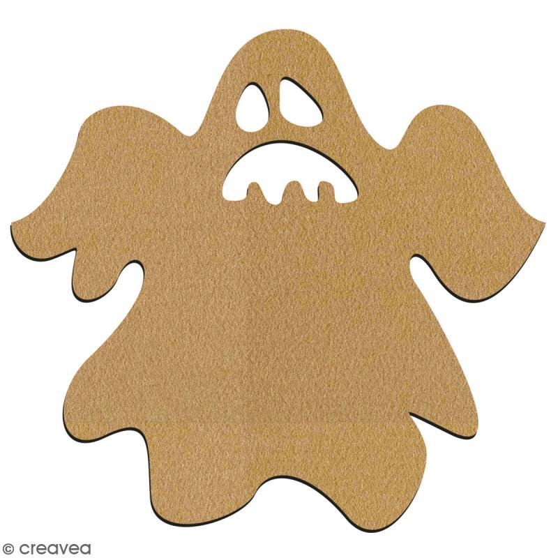 Fantôme en bois à décorer - 7 cm - Collection Halloween - Photo n°2