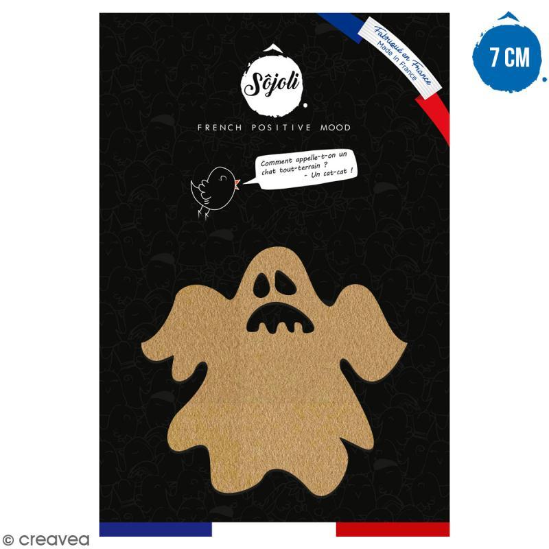 Fantôme en bois à décorer - 7 cm - Collection Halloween - Photo n°1