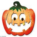 Citrouille sourire en bois à décorer - 15 cm - Collection Halloween - Photo n°3