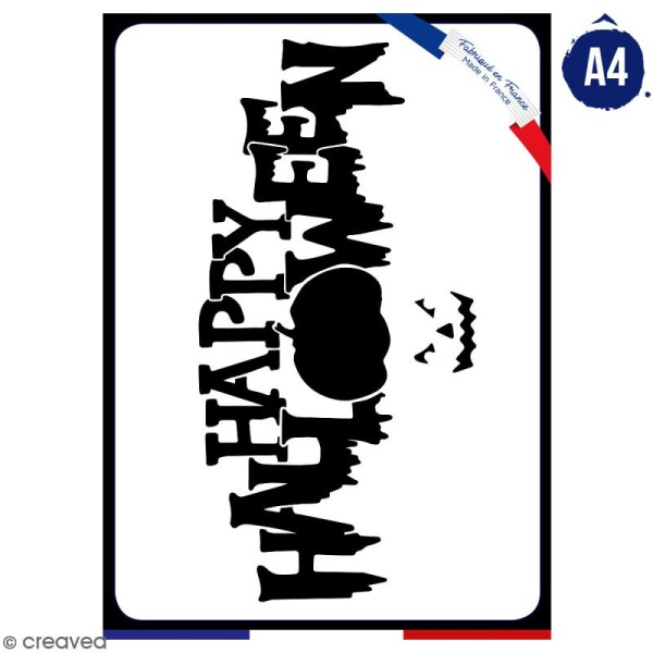Pochoir multiusage A4 - Happy Halloween - 1 planche - Collection Halloween - Photo n°1