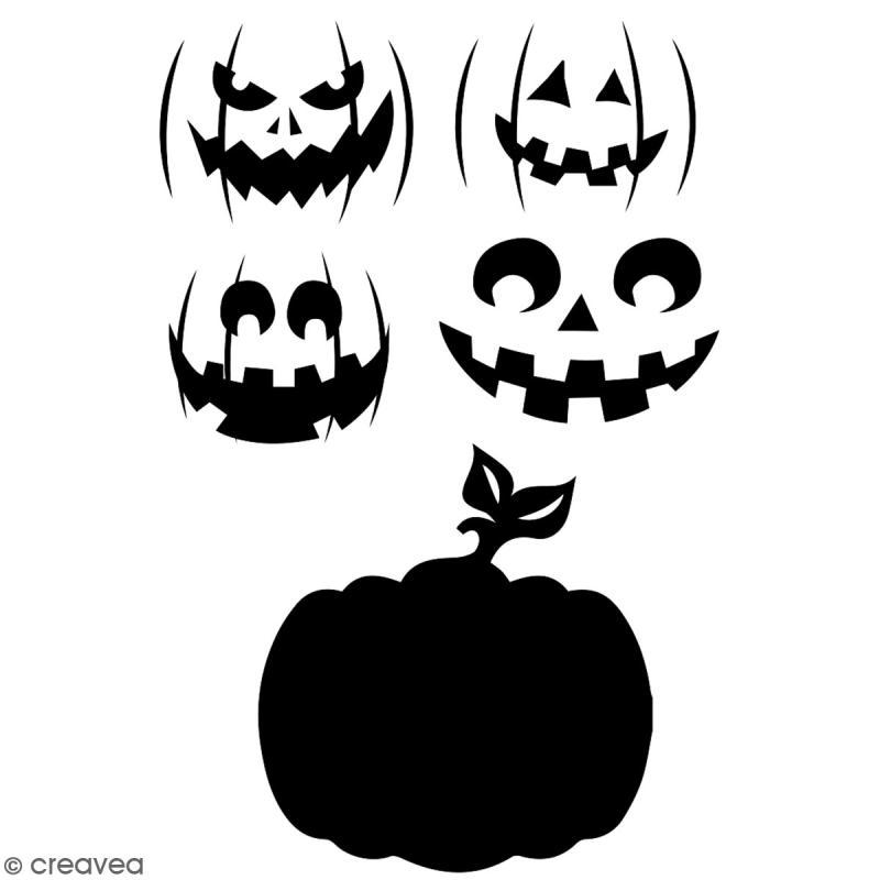 Pochoir multiusage A4 - Citrouille - 1 planche - Collection Halloween - Photo n°2