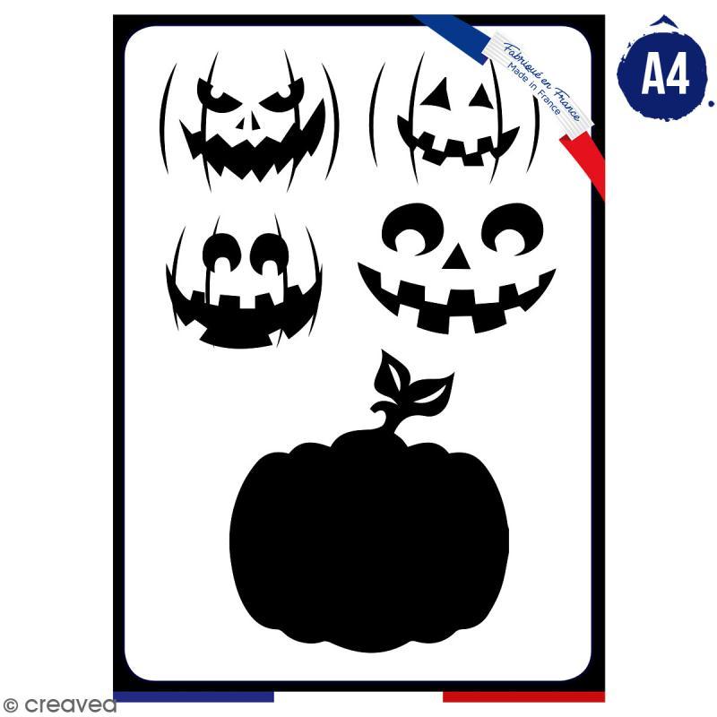 Pochoir multiusage A4 - Citrouille - 1 planche - Collection Halloween - Photo n°1