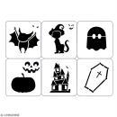 Planche de pochoirs multiusage A4 - Collection Halloween - Halloween cartoon - 6 Motifs - Photo n°2