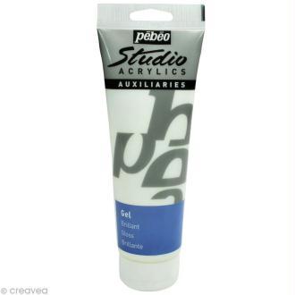 Auxiliaire acrylique Pébéo Studio - Gel Brillant - 250 ml