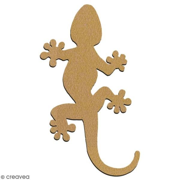 Gecko en bois à décorer - 7 cm - Collection Lama / Cactus - Photo n°2
