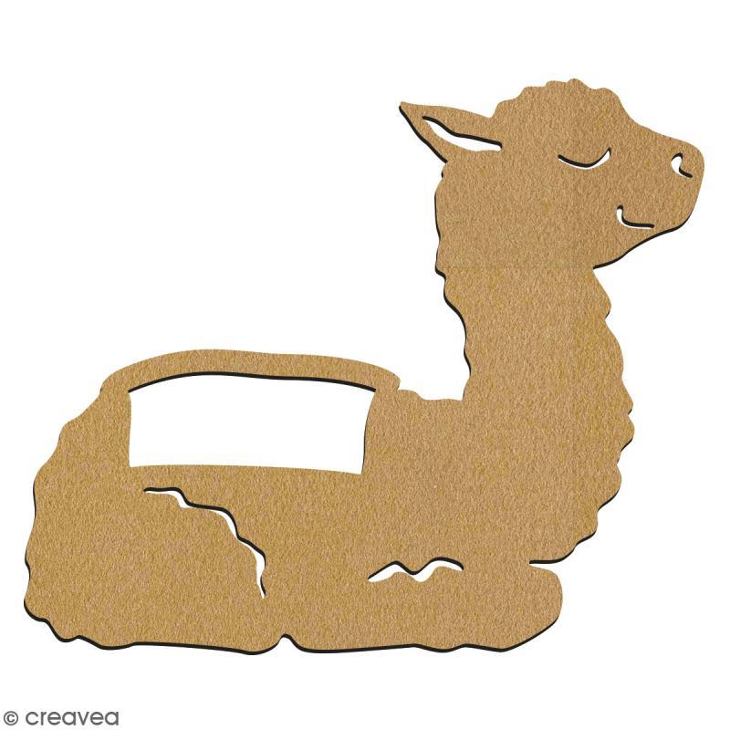 Bébé lama en bois à décorer - 7 cm - Collection Lama / Cactus - Photo n°2