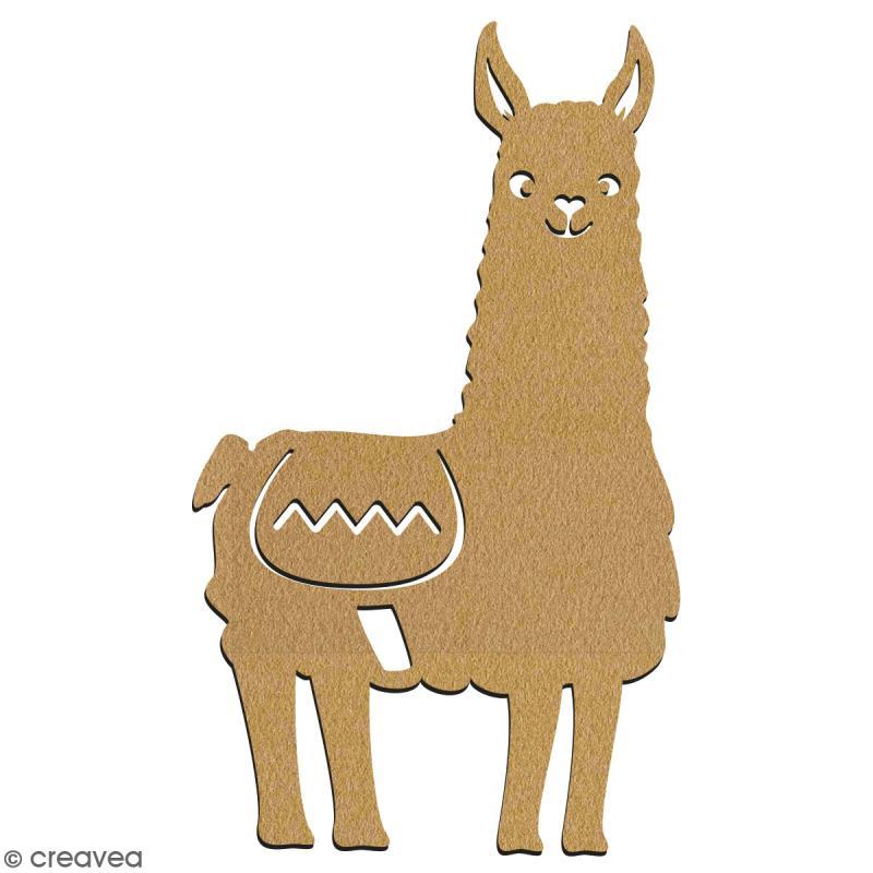 Lama de face en bois à décorer - 7 cm - Collection Lama / Cactus - Photo n°2