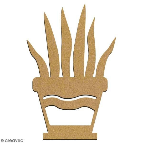 Hawortia en pot en bois à décorer - 7 cm - Collection Lama / Cactus - Photo n°2