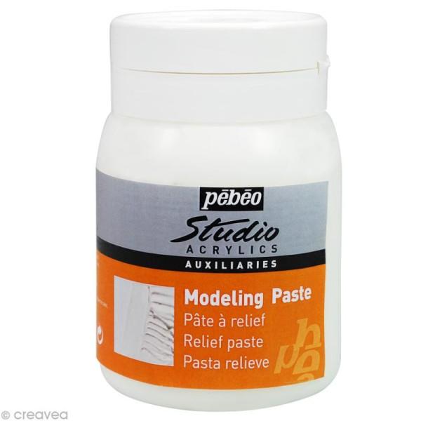 Auxiliaire Pébéo Studio - Modeling Paste - Pâte de structure 500 ml - Photo n°1
