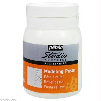 Auxiliaire Pébéo Studio - Modeling Paste - Pâte de structure 500 ml