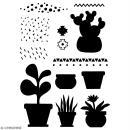 Pochoir multiusage A4 - Plantes grasses - 1 planche - Collection Lama / Cactus - Photo n°2