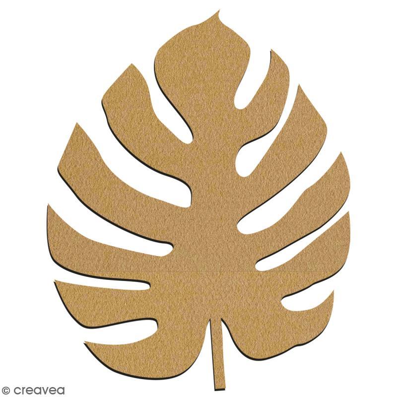 Feuille de Monstera en bois à décorer - 7 cm - Collection Green - Photo n°2