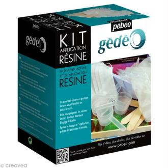 Kit application de résine Gédéo - 18 accessoires
