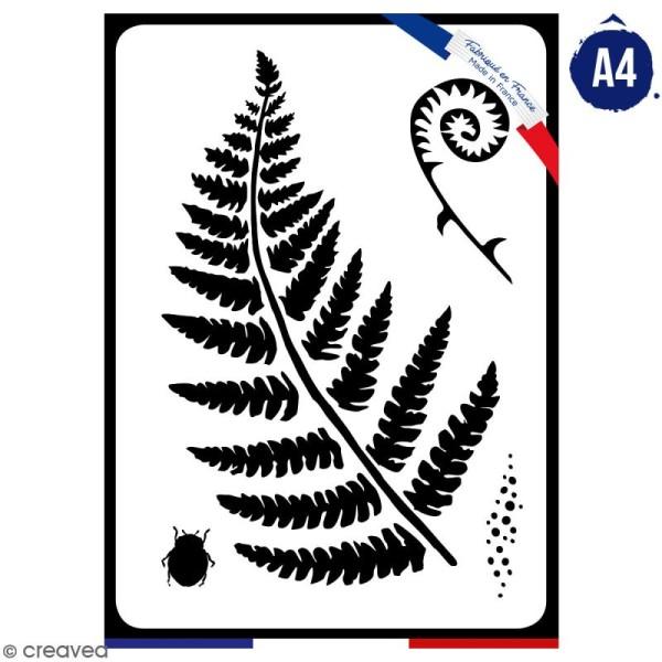 Pochoir multiusage A4 - Fougère - 1 planche - Collection Green - Photo n°1
