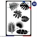 Pochoir multiusage A4 - Feuilles - 1 planche - Collection Green