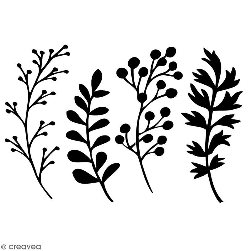 Pochoir multiusage A4 - Plantes - 1 planche - Collection Green - Photo n°2