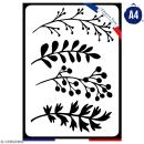 Pochoir multiusage A4 - Plantes - 1 planche - Collection Green - Photo n°1