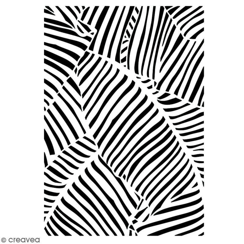 Pochoir multiusage A5 - Motif feuille - 1 planche - Collection Green - Photo n°2