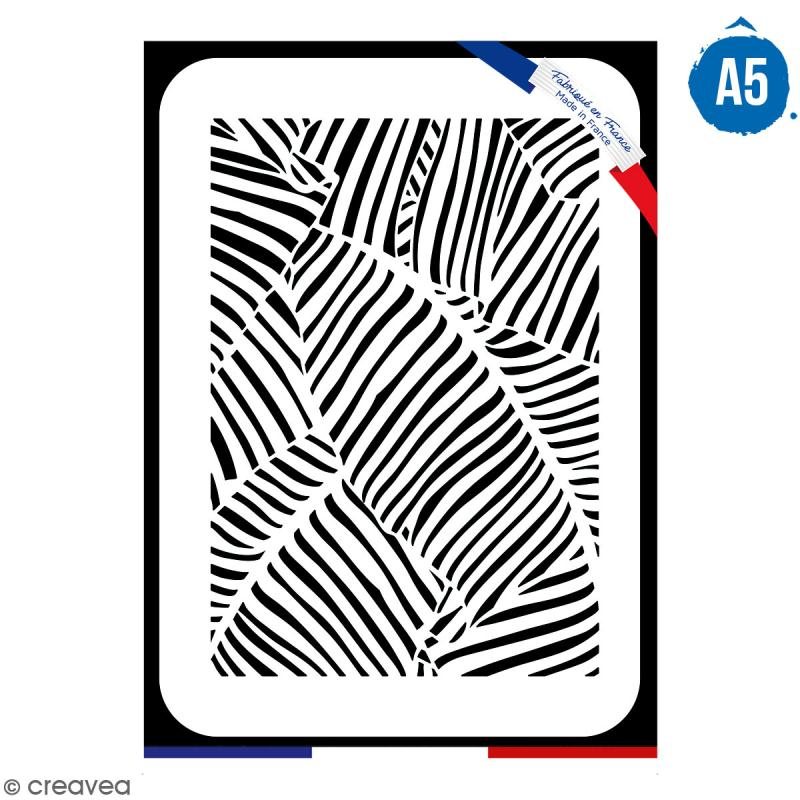 Pochoir multiusage A5 - Motif feuille - 1 planche - Collection Green - Photo n°1