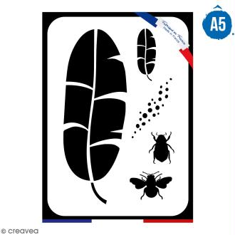 Pochoir multiusage A5 - Feuille de bananier - 1 planche - Collection Green