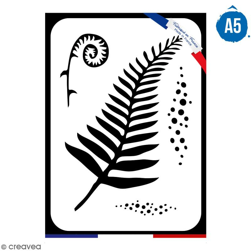Pochoir multiusage A5 - Fougère - 1 planche - Collection Green - Photo n°1