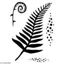 Pochoir multiusage A5 - Fougère - 1 planche - Collection Green - Photo n°2