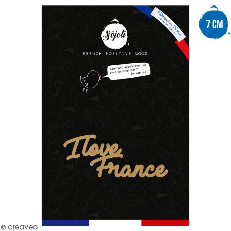 I love France en bois à décorer - 7 cm - Collection Cocorico - Photo n°1
