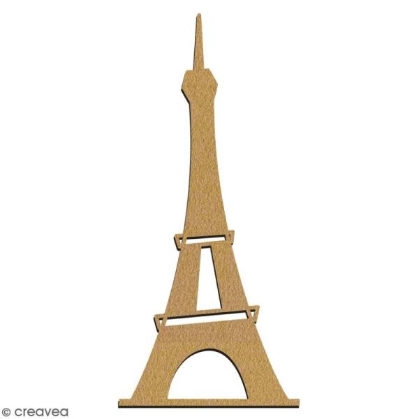Tour Eiffel en bois à décorer - 7 cm - Collection Cocorico - Photo n°2