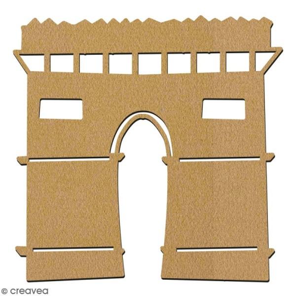 Arc de triomphe en bois à décorer - 7 cm - Collection Cocorico - Photo n°2