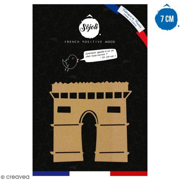 Arc de triomphe en bois à décorer - 7 cm - Collection Cocorico - Photo n°1