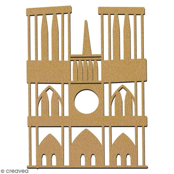 Notre Dame de Paris en bois à décorer - 7 cm - Collection Cocorico - Photo n°2