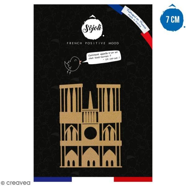Notre Dame de Paris en bois à décorer - 7 cm - Collection Cocorico - Photo n°1