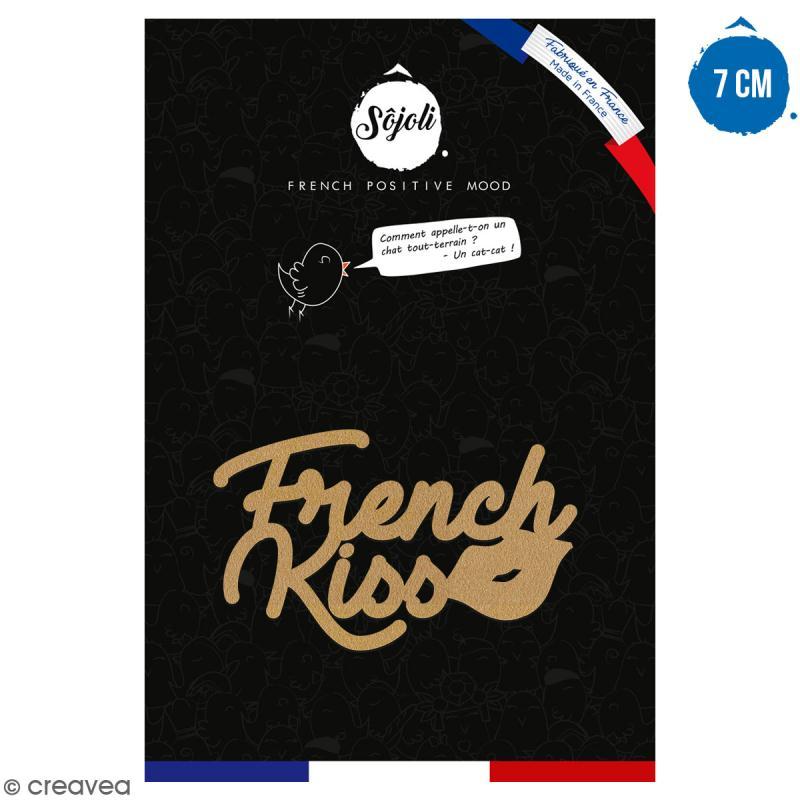 French kiss en bois à décorer - 7 cm - Collection Cocorico - Photo n°1