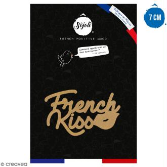 French kiss en bois à décorer - 7 cm - Collection Cocorico