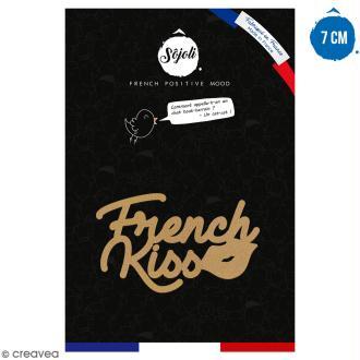 French kiss en bois à décorer - 7 cm - Collection Cocorico