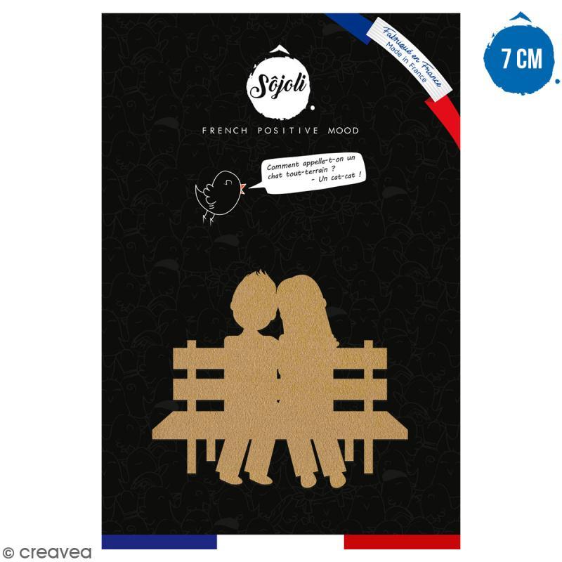 Amoureux en bois à décorer - 7 cm - Collection Cocorico - Photo n°1