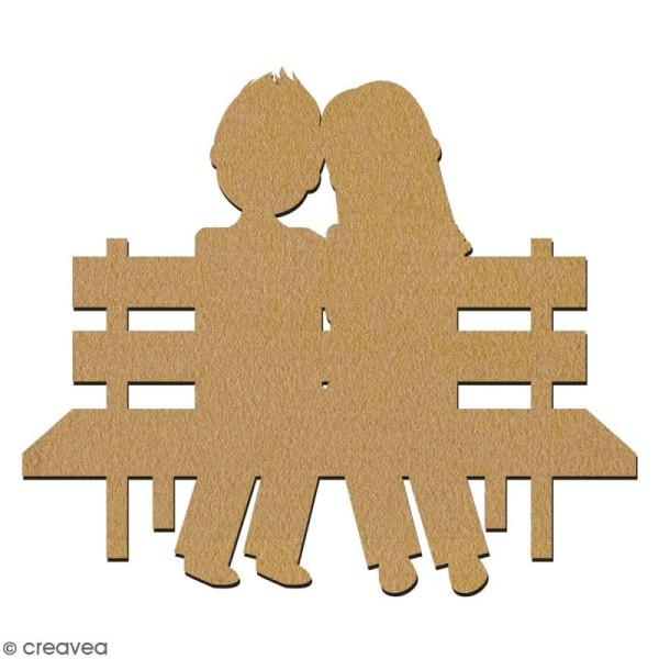 Amoureux en bois à décorer - 7 cm - Collection Cocorico - Photo n°2