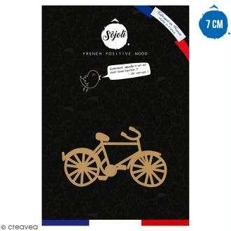 Bicyclette en bois à décorer - 7 cm - Collection Cocorico