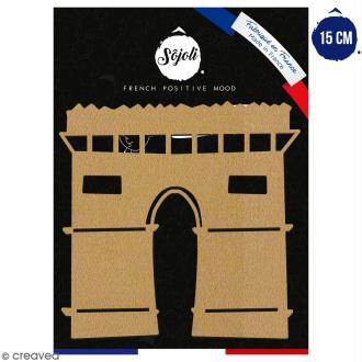 Arc de triomphe en bois à décorer - 15 cm - Collection Cocorico