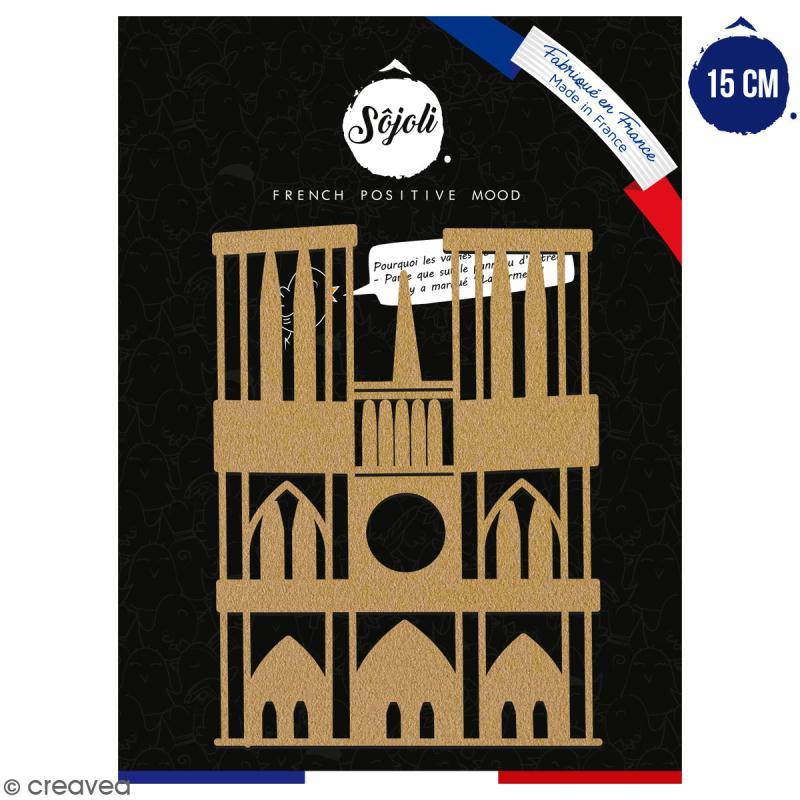Notre Dame de Paris en bois à décorer - 15 cm - Collection Cocorico - Photo n°1