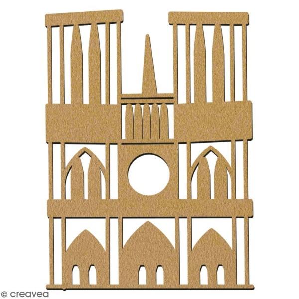 Notre Dame de Paris en bois à décorer - 15 cm - Collection Cocorico - Photo n°2